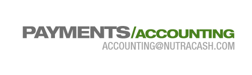 NutraCash Accounting Contact